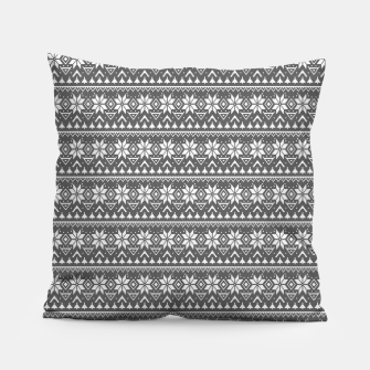 Miniaturka Christmas ornament black and white Pillow, Live Heroes