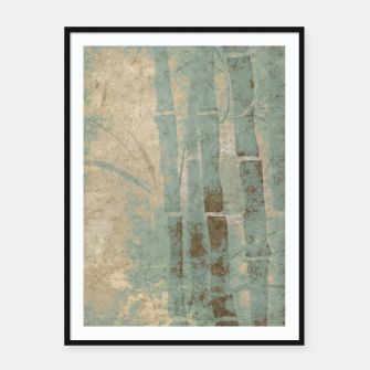 Miniatur ancient bamboo pattern Framed poster, Live Heroes