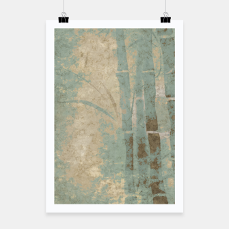 Miniatur ancient bamboo pattern Poster, Live Heroes