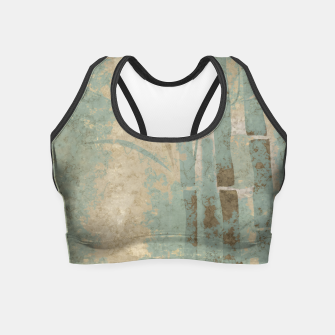 Miniatur ancient bamboo pattern Crop Top, Live Heroes