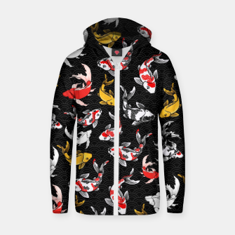 Thumbnail image of koi Zip up hoodie, Live Heroes