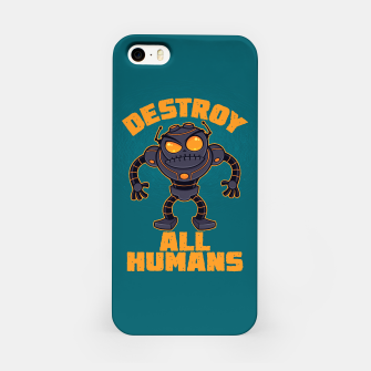 Thumbnail image of Destroy All Humans Angry Robot iPhone Case, Live Heroes