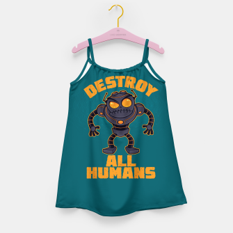 Miniatur Destroy All Humans Angry Robot Girl's dress, Live Heroes