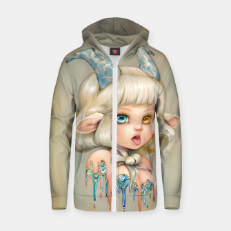 Thumbnail image of Capricorn Zodiac Zip Up Hoodie, Live Heroes