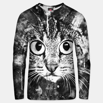 Miniature de image de cat big eyes wsbw Unisex sweater, Live Heroes