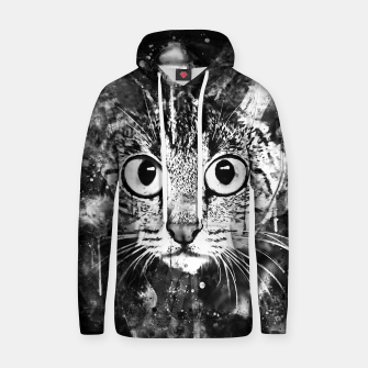 Miniature de image de cat big eyes wsbw Hoodie, Live Heroes