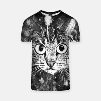 Miniature de image de cat big eyes wsbw T-shirt, Live Heroes
