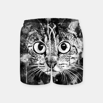 Miniature de image de cat big eyes wsbw Swim Shorts, Live Heroes