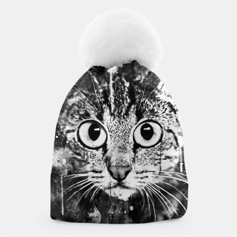 Miniature de image de cat big eyes wsbw Beanie, Live Heroes