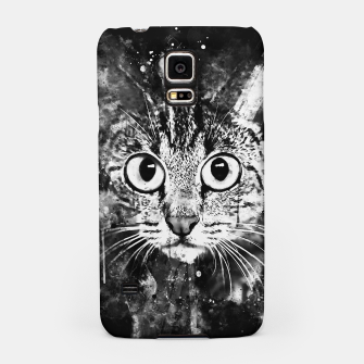 Miniature de image de cat big eyes wsbw Samsung Case, Live Heroes