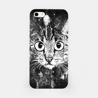 Miniature de image de cat big eyes wsbw iPhone Case, Live Heroes