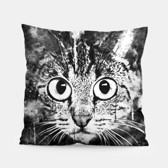 Miniature de image de cat big eyes wsbw Pillow, Live Heroes