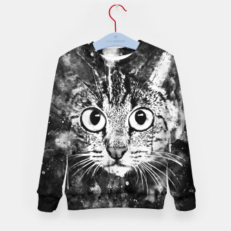 Miniature de image de cat big eyes wsbw Kid's sweater, Live Heroes