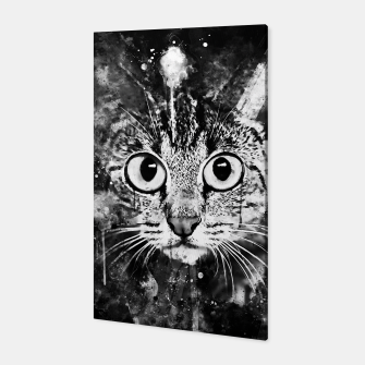 Thumbnail image of cat big eyes wsbw Canvas, Live Heroes
