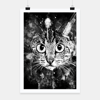 Miniature de image de cat big eyes wsbw Poster, Live Heroes