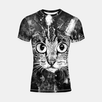 Miniature de image de cat big eyes wsbw Shortsleeve rashguard, Live Heroes