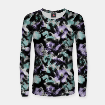 Thumbnail image of Abstract splashes Women sweater, Live Heroes