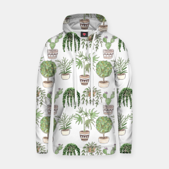 Thumbnail image of Watercolor plants in pots pattern Hoodie, Live Heroes