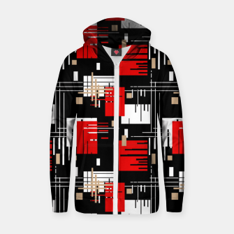 Thumbnail image of Abstract seamless modern pattern Zip up hoodie, Live Heroes