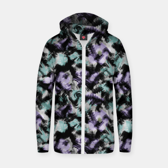 Thumbnail image of Abstract splashes Zip up hoodie, Live Heroes