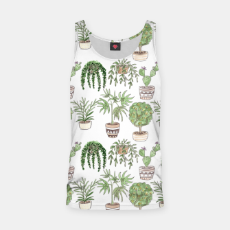 Thumbnail image of Watercolor plants in pots pattern Tank Top, Live Heroes