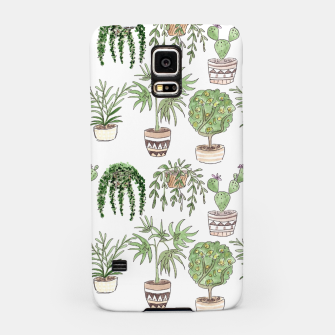 Thumbnail image of Watercolor plants in pots pattern Samsung Case, Live Heroes