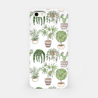 Thumbnail image of Watercolor plants in pots pattern iPhone Case, Live Heroes