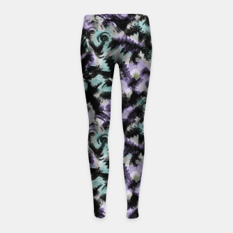 Thumbnail image of Abstract splashes Girl's leggings, Live Heroes