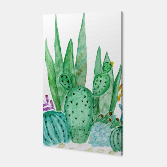 Thumbnail image of Watercolor Cactus print Canvas, Live Heroes