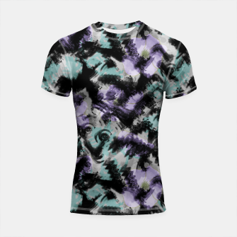 Thumbnail image of Abstract splashes Shortsleeve rashguard, Live Heroes