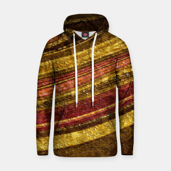 Thumbnail image of Foil golden wave textured print brown red yellow colors Hoodie, Live Heroes
