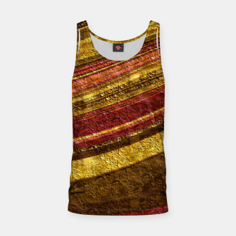 Thumbnail image of Foil golden wave textured print brown red yellow colors Tank Top, Live Heroes