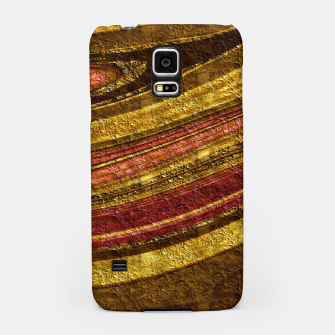 Thumbnail image of Foil golden wave textured print brown red yellow colors Samsung Case, Live Heroes