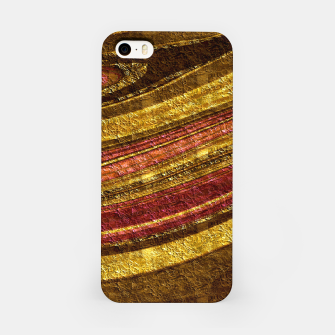 Thumbnail image of Foil golden wave textured print brown red yellow colors iPhone Case, Live Heroes
