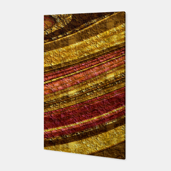 Thumbnail image of Foil golden wave textured print brown red yellow colors Canvas, Live Heroes
