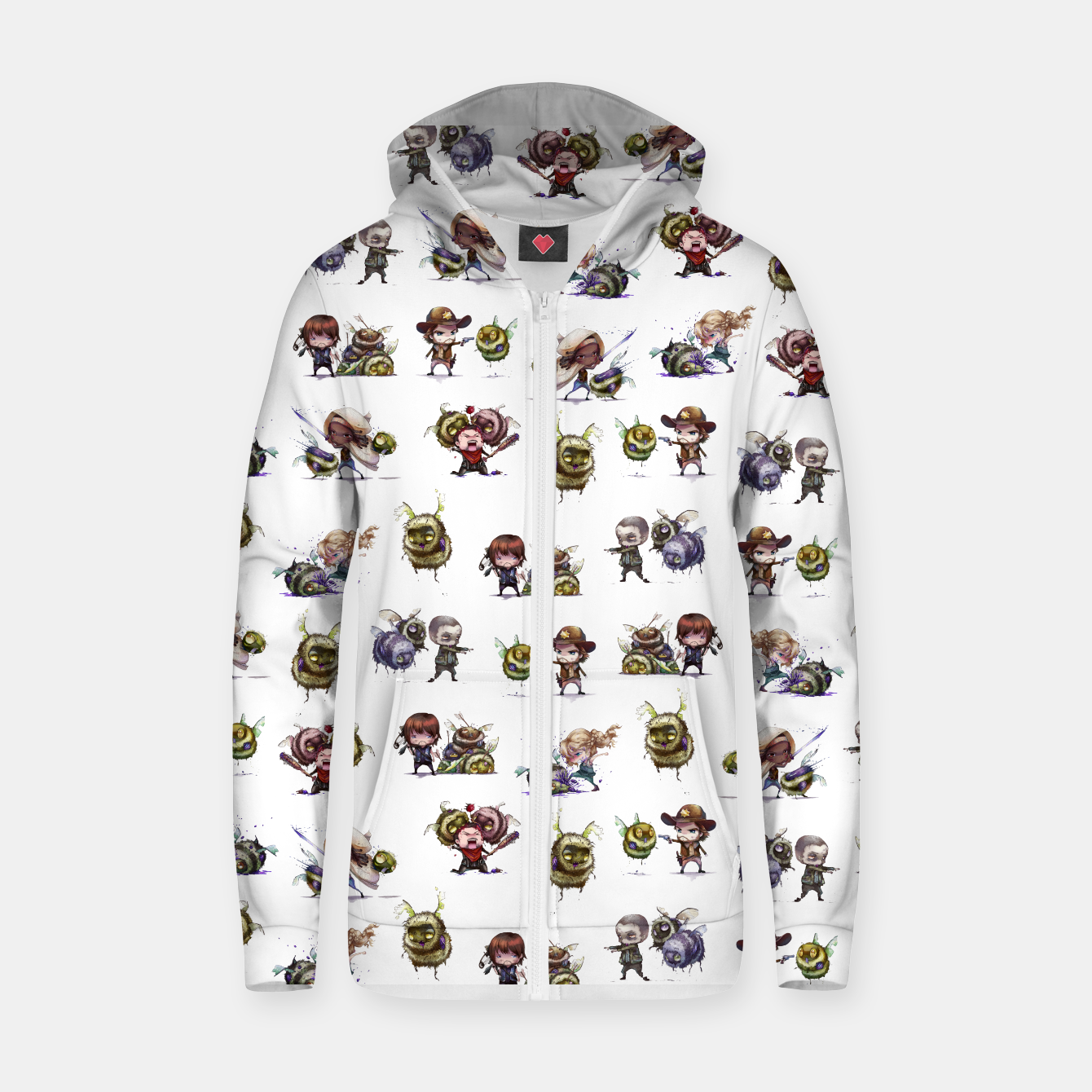 Image of The Walking Dead Zombees Zip Up Hoodie - Live Heroes