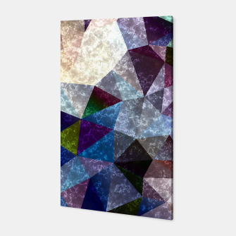 Miniaturka Abstract marble polygonal pattern Canvas, Live Heroes
