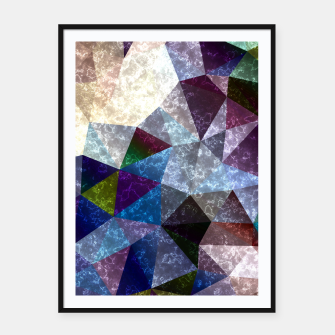 Miniaturka Abstract marble polygonal pattern Framed poster, Live Heroes