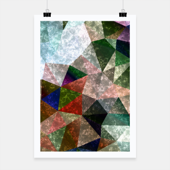 Miniaturka Abstract marble polygonal pattern Poster, Live Heroes