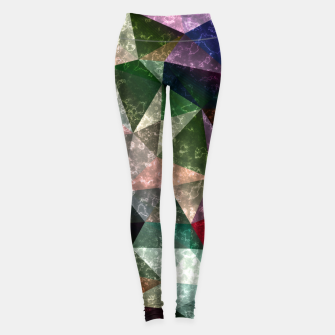 Thumbnail image of Abstract marble polygonal pattern Leggings, Live Heroes