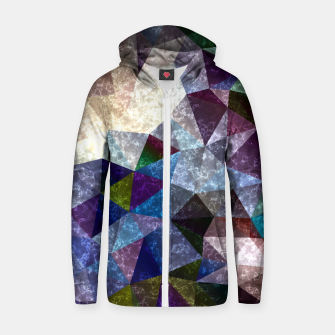 Thumbnail image of Abstract marble polygonal pattern Zip up hoodie, Live Heroes