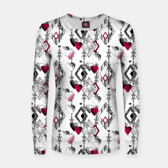 Love , Valentine's day , red , heart , wedding Women sweater thumbnail image