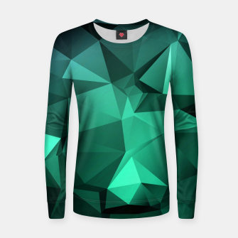 Thumbnail image of green polygon , green , polygon , geometric Women sweater, Live Heroes