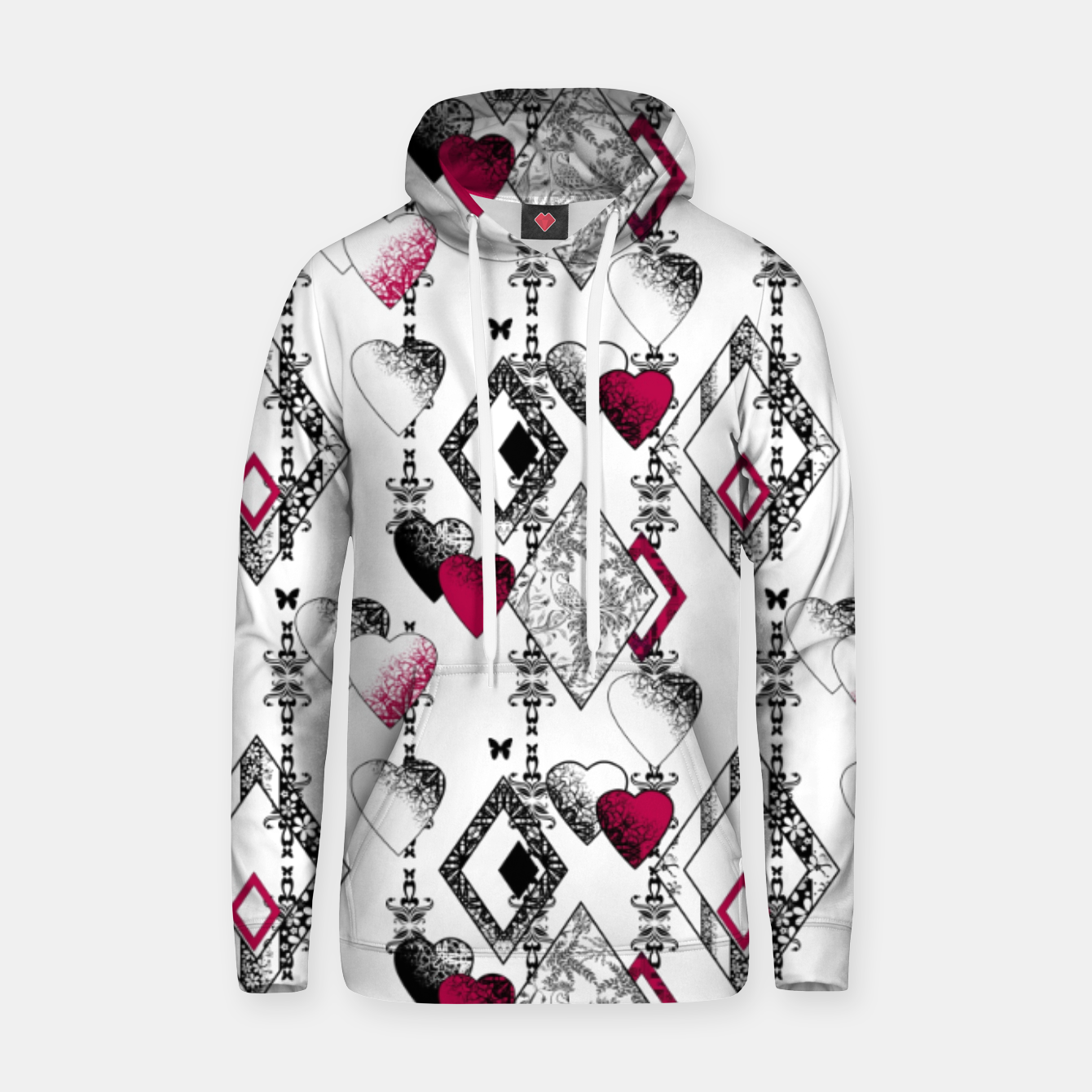 Image of Love , Valentine's day , red , heart , wedding Hoodie - Live Heroes