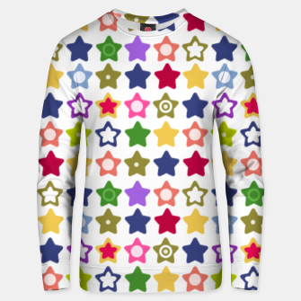 Miniatur Multi-colored stars , stars , bright Unisex sweater, Live Heroes