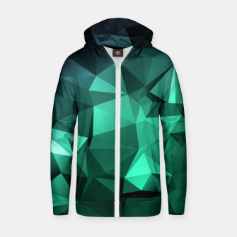 Thumbnail image of green polygon , green , polygon , geometric Zip up hoodie, Live Heroes