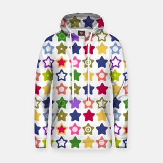 Thumbnail image of Multi-colored stars , stars , bright Hoodie, Live Heroes