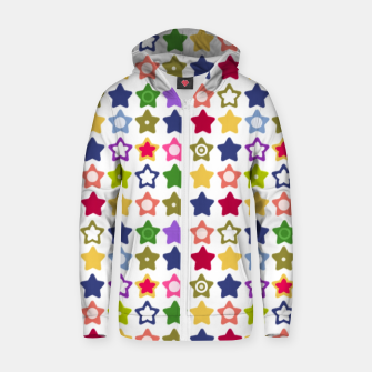 Miniatur Multi-colored stars , stars , bright Zip up hoodie, Live Heroes