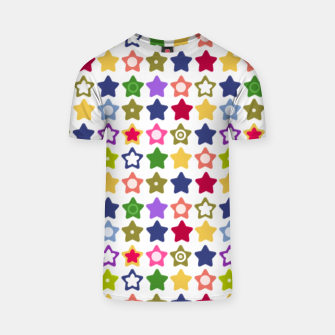 Miniatur Multi-colored stars , stars , bright T-shirt, Live Heroes