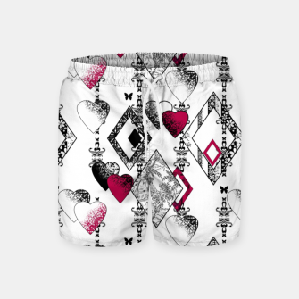 Love , Valentine's day , red , heart , wedding Swim Shorts thumbnail image